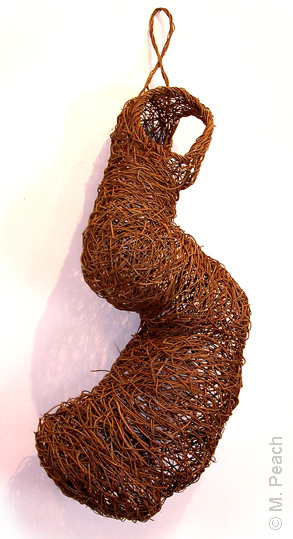 Fibre sculpture 'Burrow Skin' by Meredith Peach