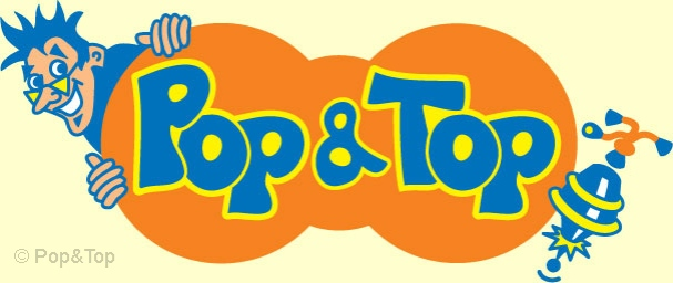 Logo for 'Pop & Top' children's books
